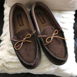 L.B. Evans Atlin Brown Moccasin Slippers